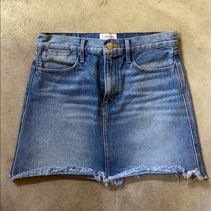 Frame le high mimi denim skirt size 27